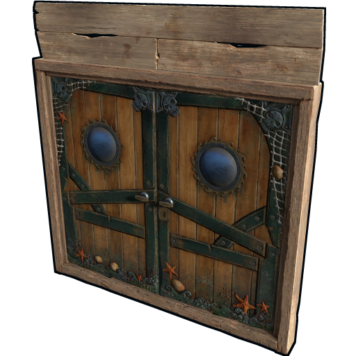Pirate Ship Wooden Double Door as seen on a Steam Market
