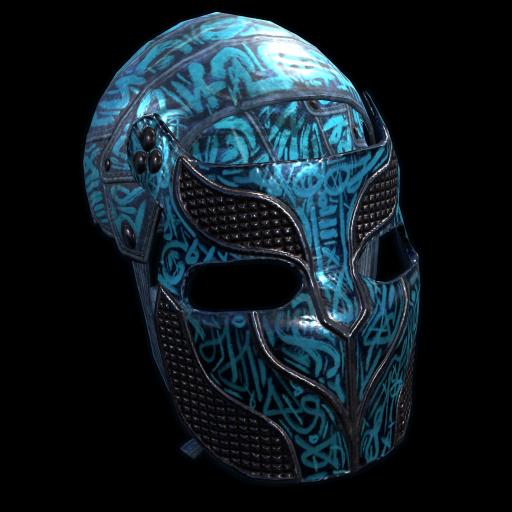 Azul Metal Facemask as seen on a Steam Market