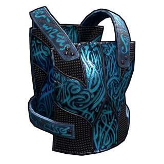 Azul Metal Chest Plate