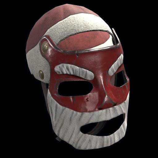 Santa Metal Facemask as seen on a Steam Market