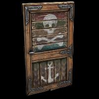 Pirate Wooden Door