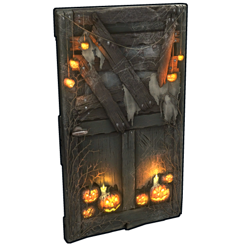 Hell-o-ween Wooden Door as seen on a Steam Market