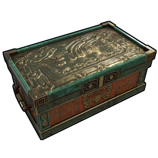Aztec Gold Chest as seen on a Steam Market