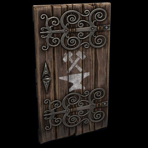 Artisan Wooden Door as seen on a Steam Market