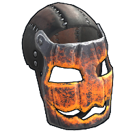 Glowing Metal Pumpkin Mask