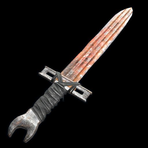 Sheet Metal Sword as seen on a Steam Market