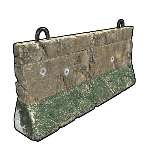 Outpost Concrete Barricade as seen on a Steam Market