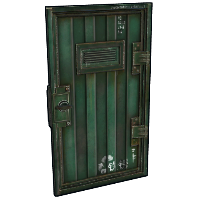 Green Armored Container Door