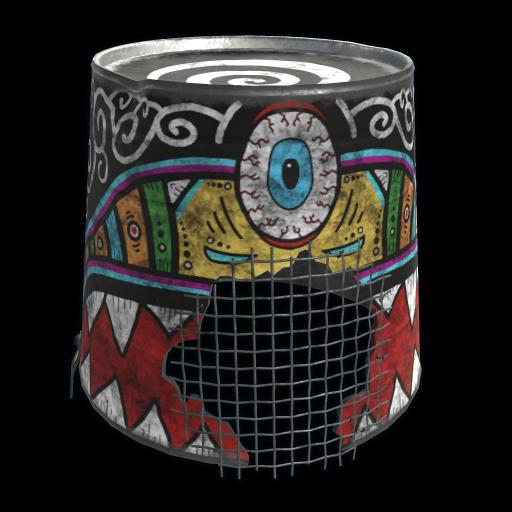 Sunrise Bucket Helmet as seen on a Steam Market