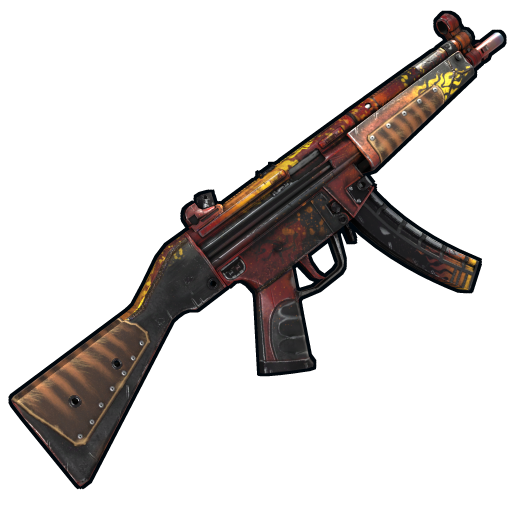Wild Flame MP5 as seen on a Steam Market
