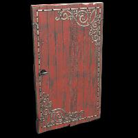 Red Decorative Wood Door