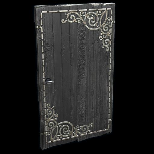 Black Decorative Wood Door as seen on a Steam Market