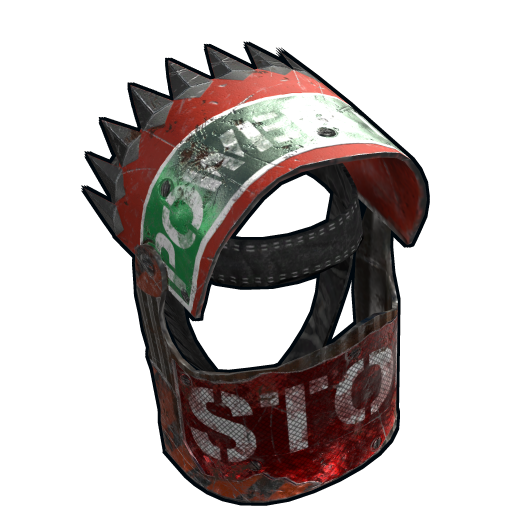 Roadsign Warrior Helmet as seen on a Steam Market