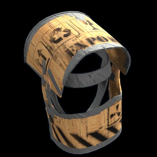 Plywood Helmet as seen on a Steam Market