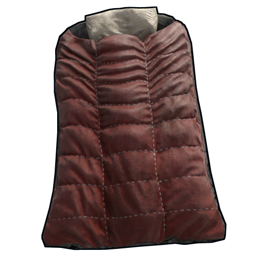 Red Survival Sleeping Bag as seen on a Steam Market