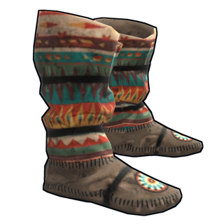 Native American Hide Shoes