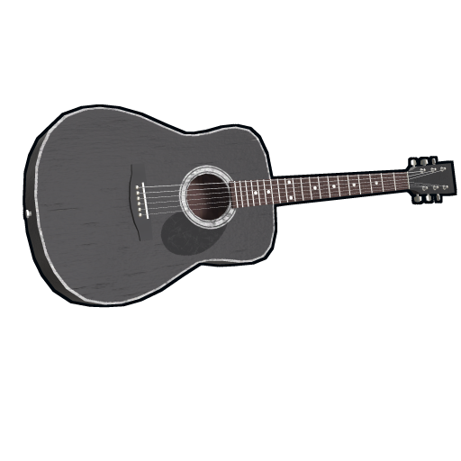 Black Acoustic Guitar as seen on a Steam Market