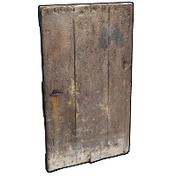 Old Heavy Wooden Door