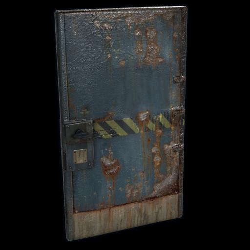 Hazard Metal Door as seen on a Steam Market