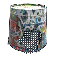 Graffiti Bucket Helmet