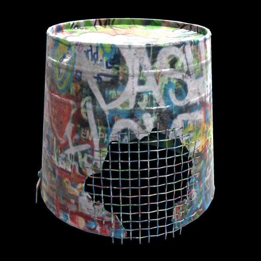 Graffiti Bucket Helmet as seen on a Steam Market