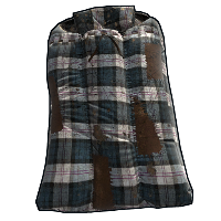 Blue Plaid Sleeping Bag
