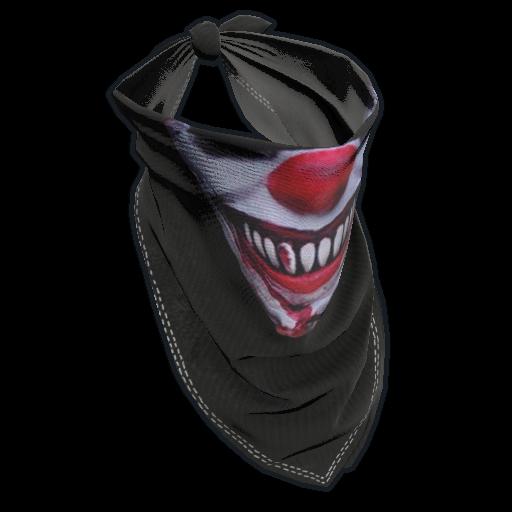 Creepy Clown Bandana as seen on a Steam Market