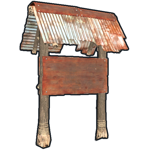 Two Sided Town Sign Post as seen on a Steam Market