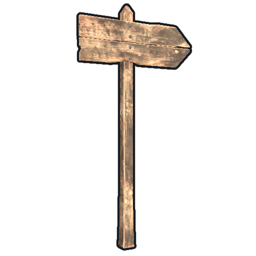 Single Sign Post as seen on a Steam Market