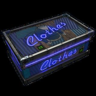 Neon Clothes Storage
