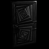 Hypnotic Steel Door