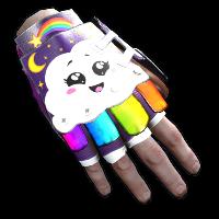 Rainbow Pony Roadsign Gloves