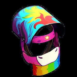 Rainbow Pony Helmet