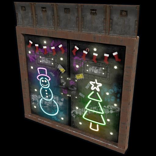 Christmas Bunker Double Door as seen on a Steam Market