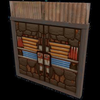 Pixel Metal Double Door