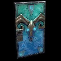 Glacial Visage Metal Door