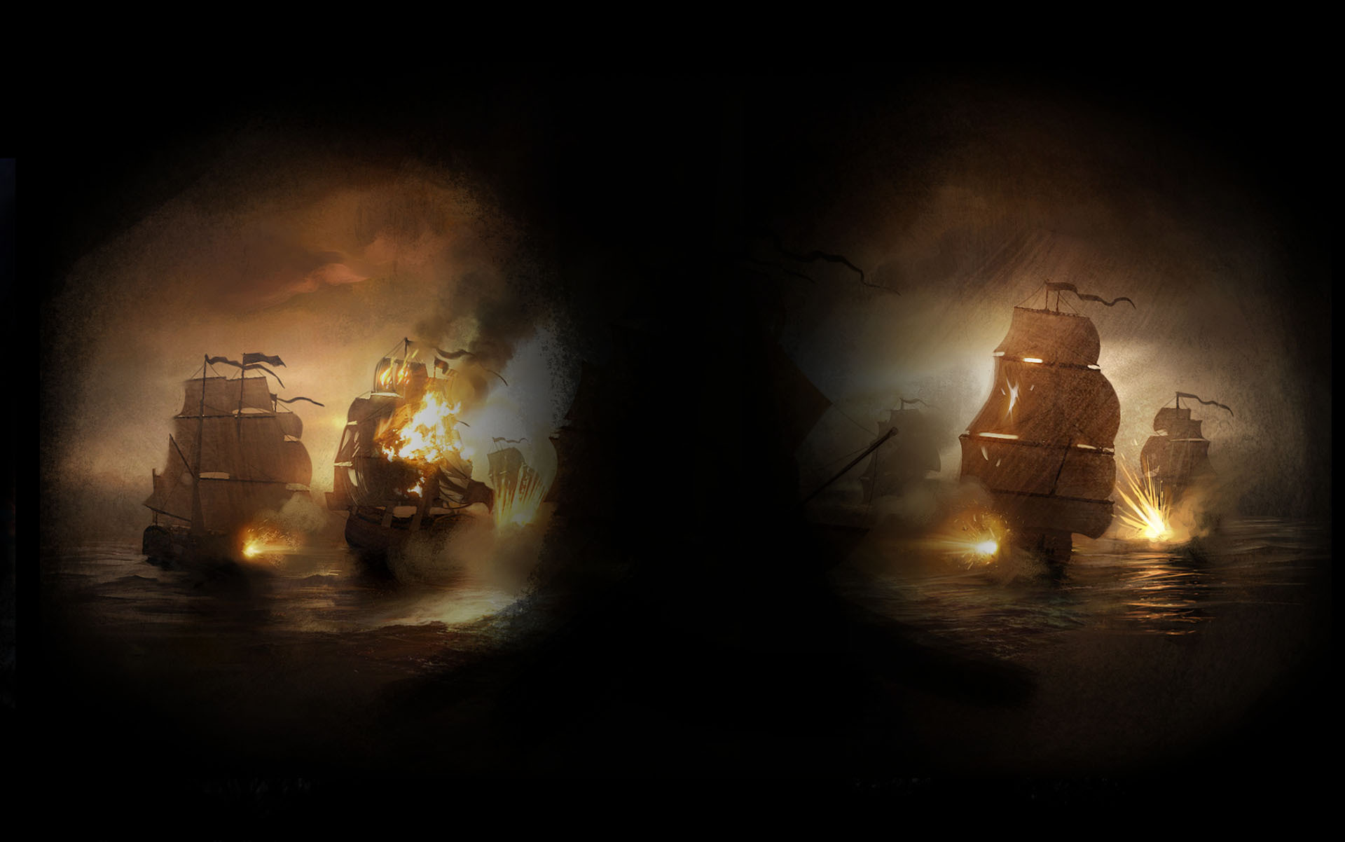 Naval Battle (Profile Background)