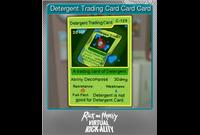 Detergent Trading Card Card Card (Foil)