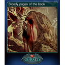 Bloody pages of the book
