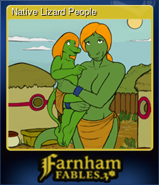 Native Lizard People (Trading Card)