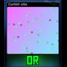 Confetti orbs