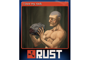 I Love My Rock Trading Card
