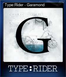 Type:Rider - Garamond (Trading Card)