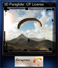 3D Paraglider :CP License