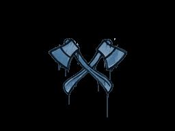 Запечатанный граффити | Скрещённые топоры (Королевский синий)