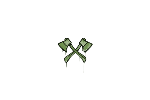 Graffiti | X-Axes (Battle Green) Prices