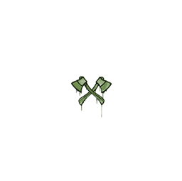 Sealed Graffiti | X-Axes (Battle Green)