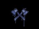 Sealed Graffiti | X-Axes (SWAT Blue)