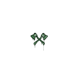 Sealed Graffiti | X-Axes (Jungle Green)
