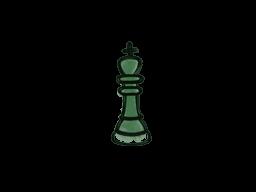 Запечатанный граффити | Шахматный король (Лесной зелёный)